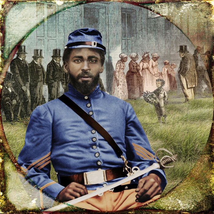Unidentified African American Soldier in Calvary