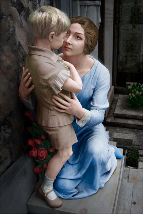 Gilberta Leoparti Lodi and her Lost Son, 1929, after Barbieri